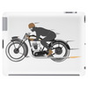 Vintage motorcycle racer Tablet (horizontal)