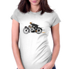 Vintage motorcycle racer Womens Fitted T-Shirt