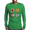 vintage phone retro dial pop art (2) Mens Long Sleeve T-Shirt