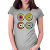 vintage phone retro dial pop art (2) Womens Fitted T-Shirt