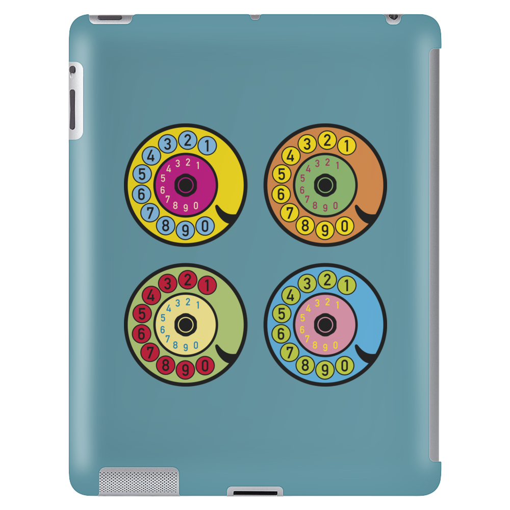 vintage phone retro dial pop art Tablet