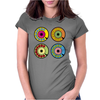 vintage phone retro dial pop art Womens Fitted T-Shirt