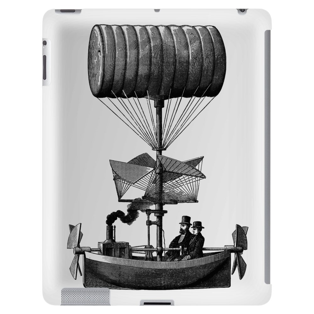 Vintage Steampunk Flying Machine Tablet
