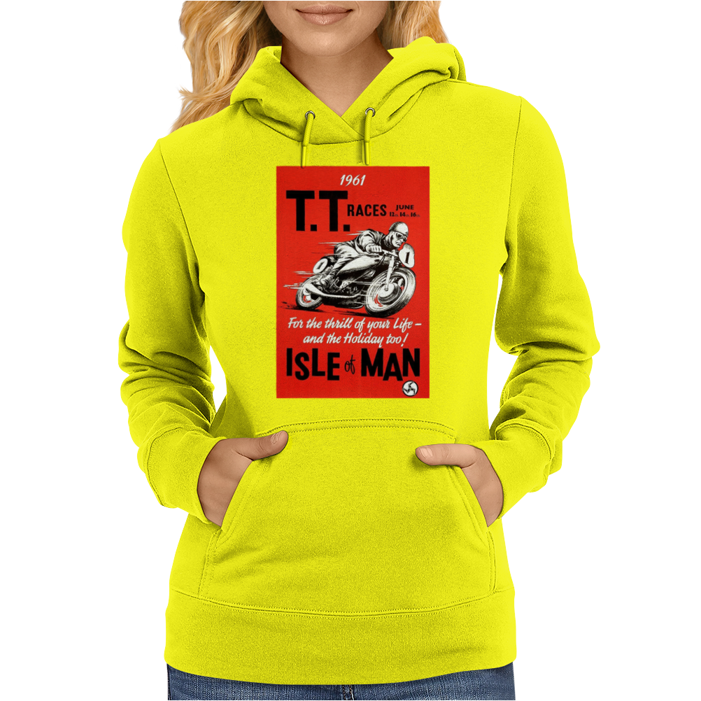 Vintage TT Race Poster, Ideal Gift or Birthday Present Womens Hoodie
