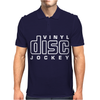 Vinyl Disc Jockey DJ Mens Polo