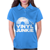 Vinyl Junkie White Logo Womens Polo