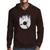 Vinyl Record with Grunge Cityscape Mens Hoodie
