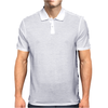 Vinyl Record with Grunge Cityscape Mens Polo