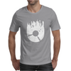 Vinyl Record with Grunge Cityscape Mens T-Shirt