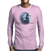 Violin Goth Moon Lady Mens Long Sleeve T-Shirt