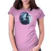 Violin Goth Moon Lady Womens Fitted T-Shirt