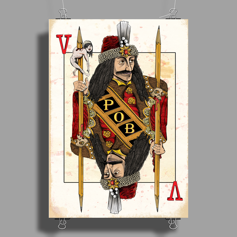 Vlad the Impaler Poster Print (Portrait)