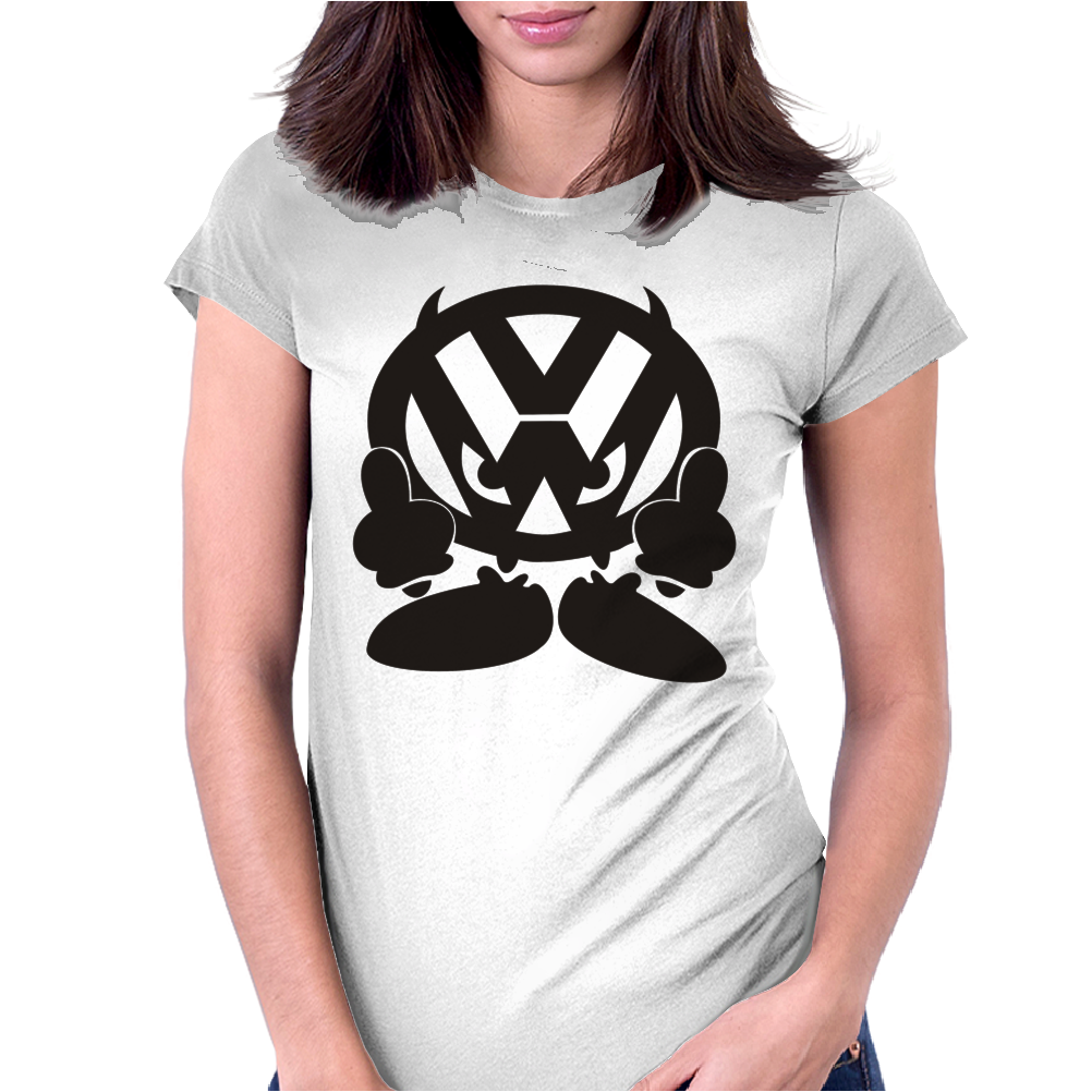 VOLKSWAGEN VW FACE Womens Fitted T-Shirt