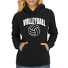 Volleyball Arch Womens Hoodie