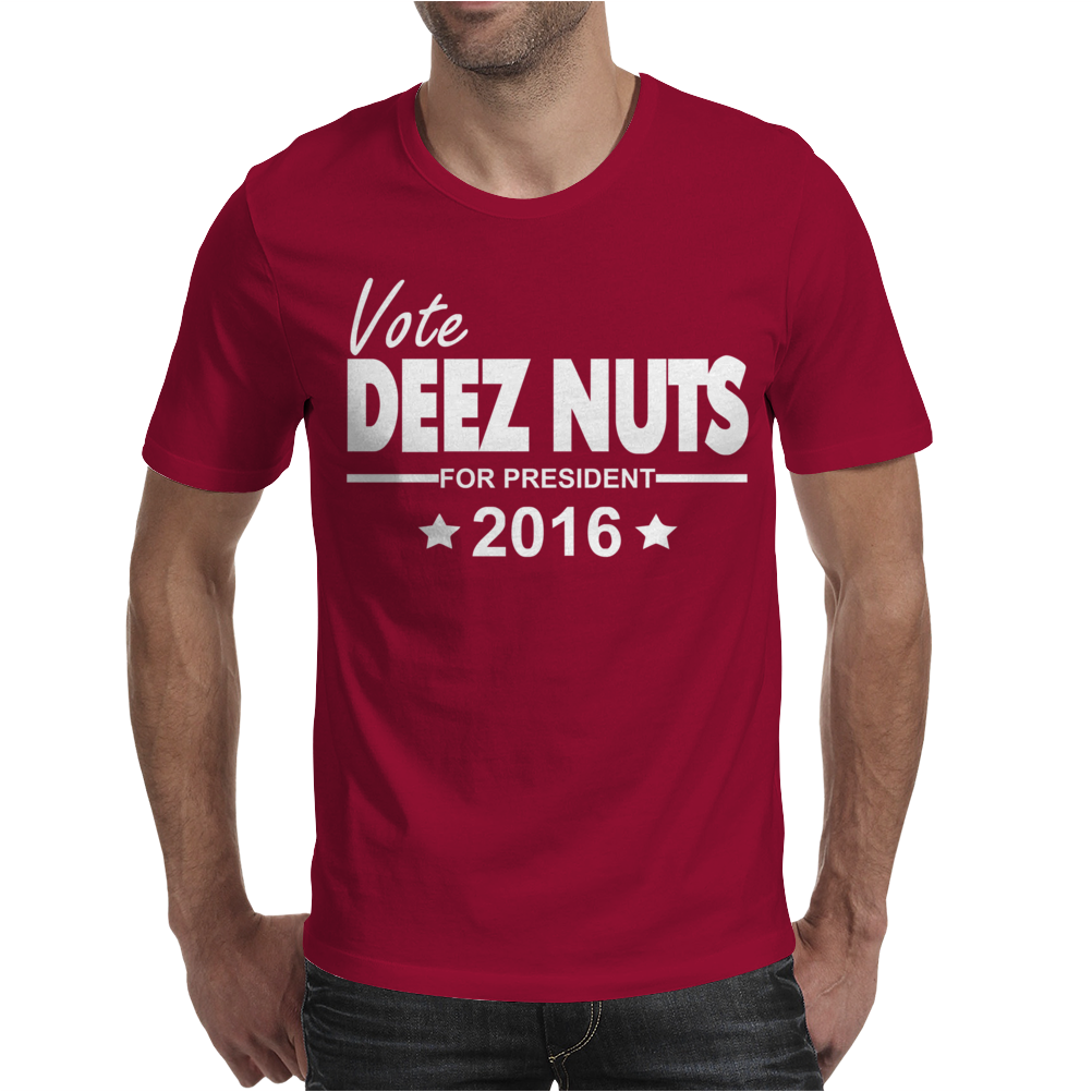 Vote Deez Nuts For President 2016 Funny Mens T-Shirt