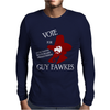 Vote Guy Fawkes Mens Long Sleeve T-Shirt