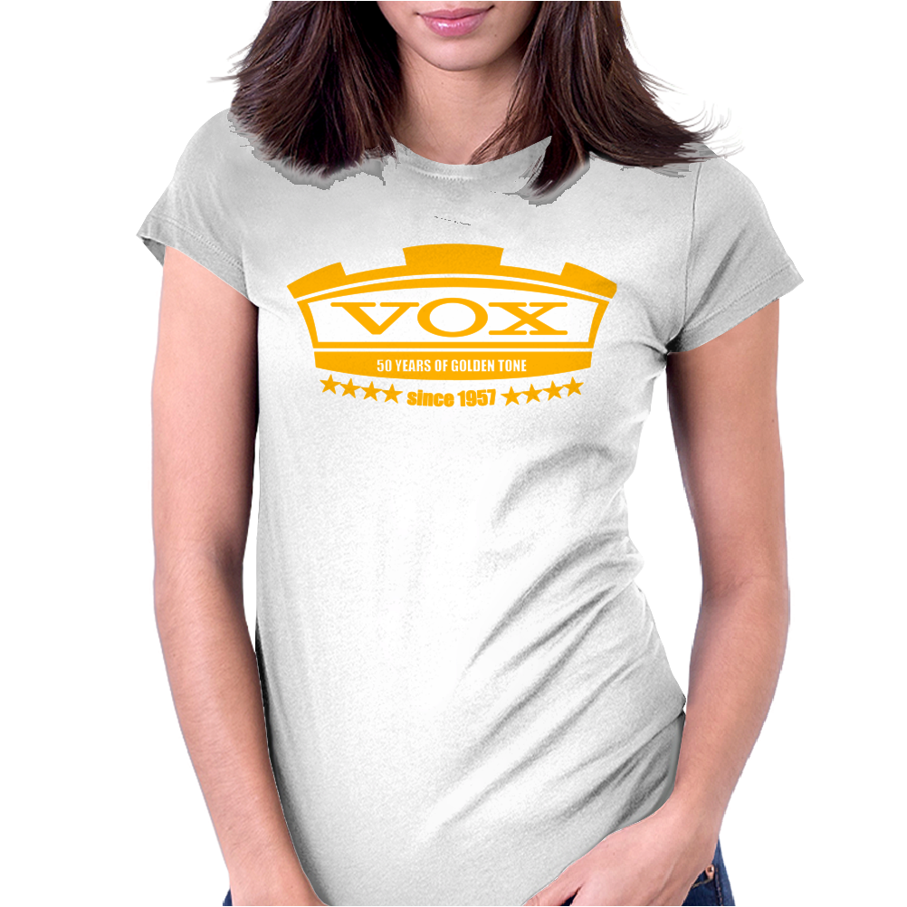 Vox Amplifiers Rock And Roll Guitar Womens Fitted T-Shirt