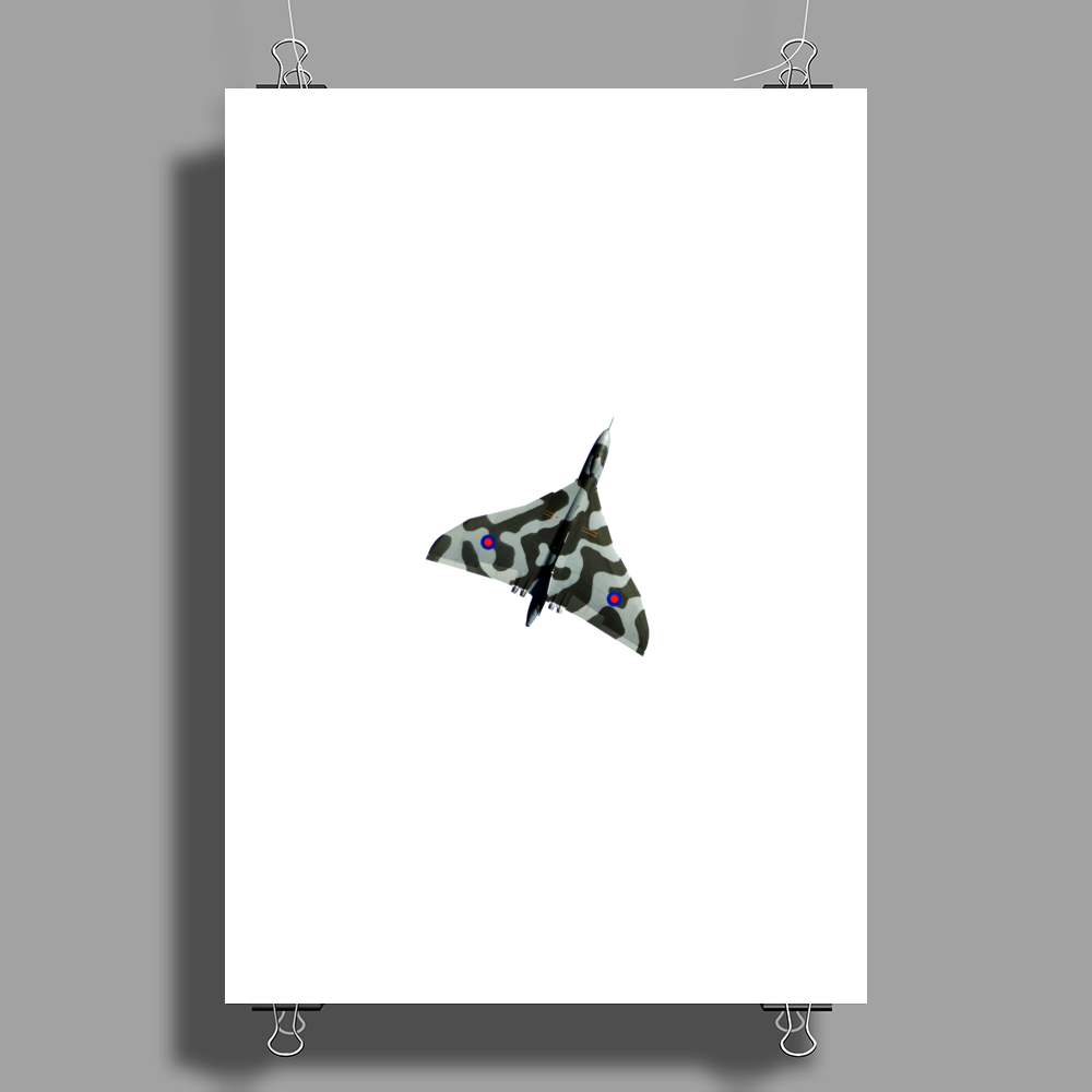 "Vulcan XH558 Camo "" Topside "" Poster Print (Portrait)"