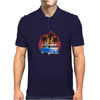 VW Bus Blue Palmes Sunset 70ies Colors Mens Polo