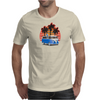 VW Bus Blue Palmes Sunset 70ies Colors Mens T-Shirt