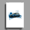 VW GOLF R Poster Print (Portrait)