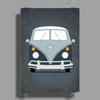 VW Type 2 In Blue Poster Print (Portrait)