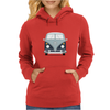 VW Type 2 In Blue Womens Hoodie
