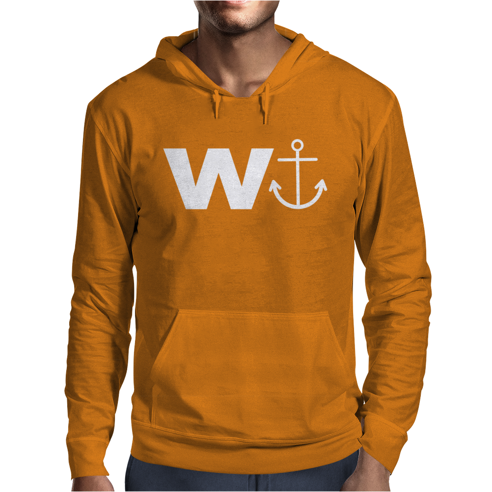 W  With Image Of An Anchor Great Gift Brother Mens Hoodie