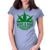 Wake And Bake, Rise And Shine Its Marijuana Time Womens Fitted T-Shirt
