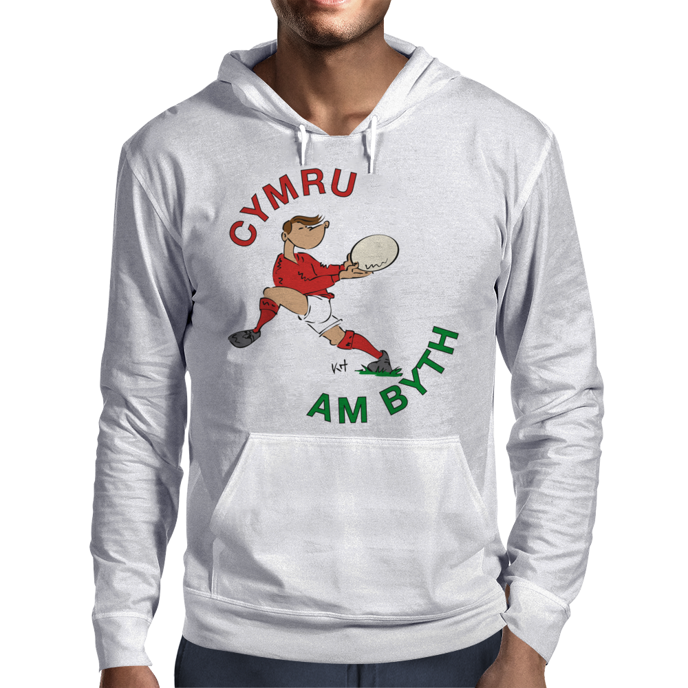 Wales Rugby Back World Cup Mens Hoodie