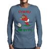 Wales Rugby Kicker World Cup Mens Long Sleeve T-Shirt