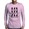 Walk like a minion Mens Long Sleeve T-Shirt