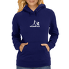 Walking Dad Weiß Womens Hoodie