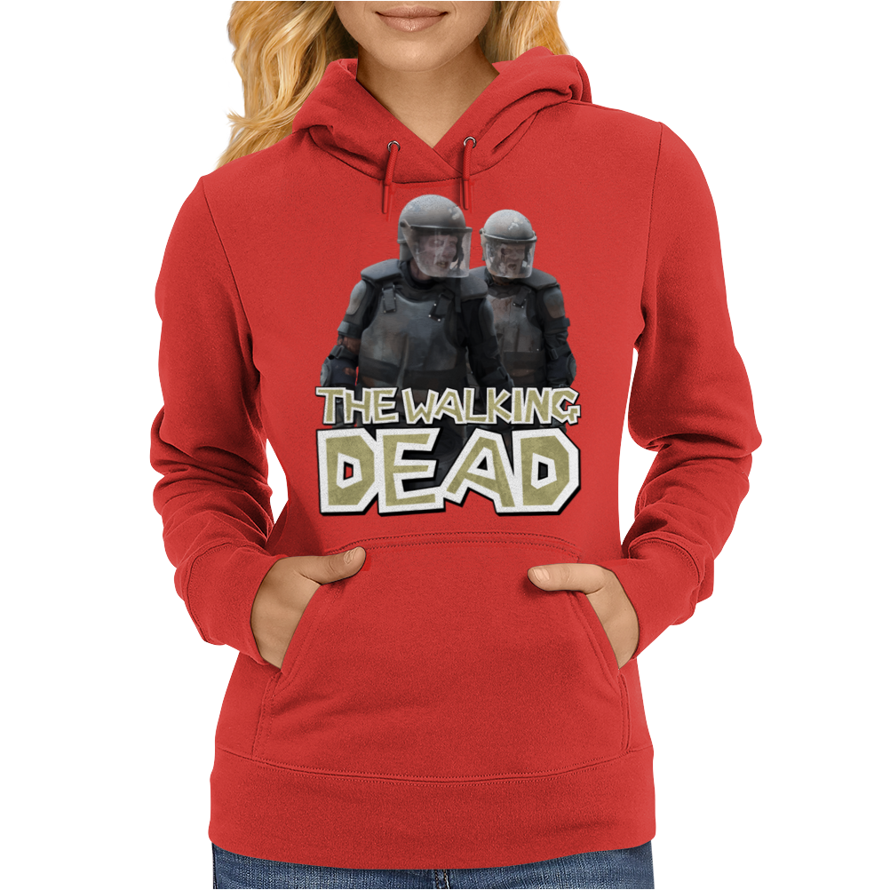 Walking Dead - Riot Gear Zombies Womens Hoodie