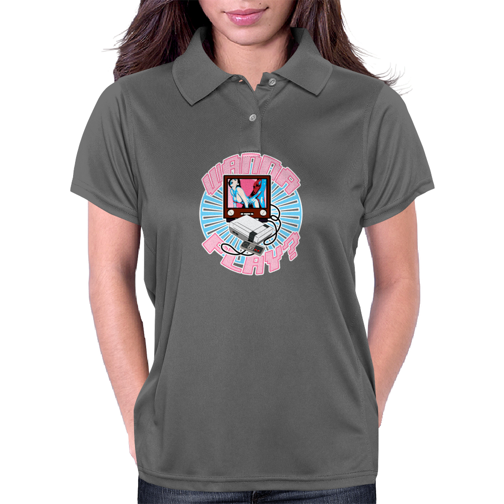WANNA PLAY ? Womens Polo