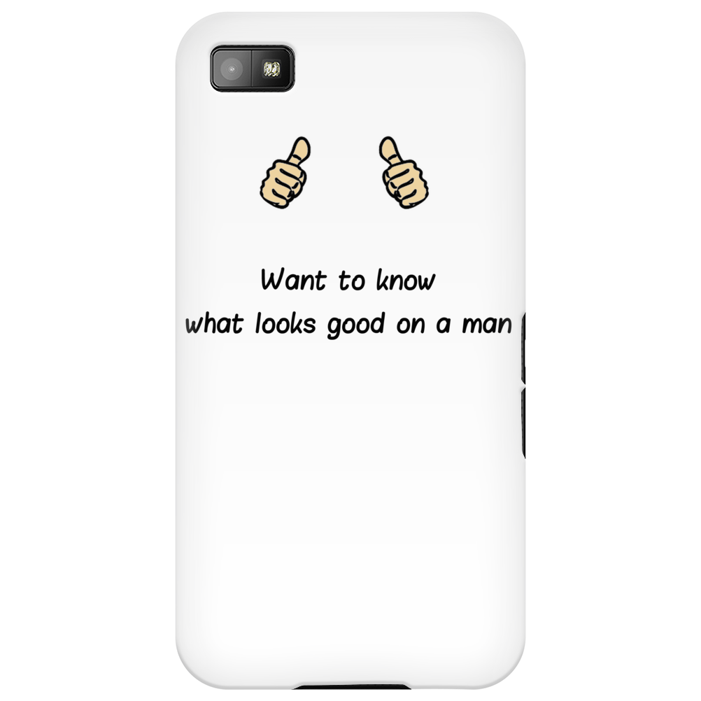 Want to know what looks good on a Man Phone Case
