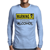 WARNING! CONTAINS ALCOHOL Mens Long Sleeve T-Shirt