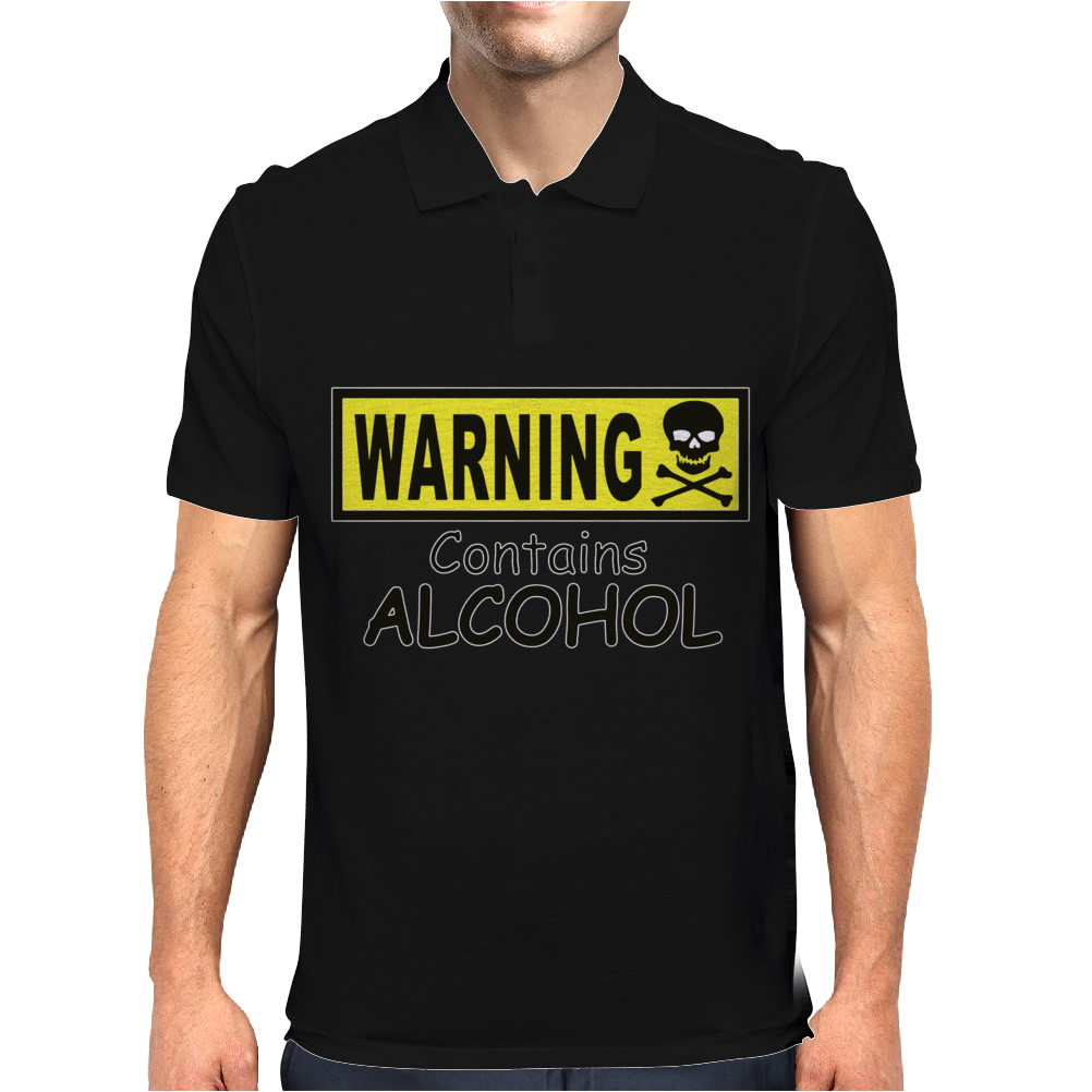 WARNING! CONTAINS ALCOHOL Mens Polo