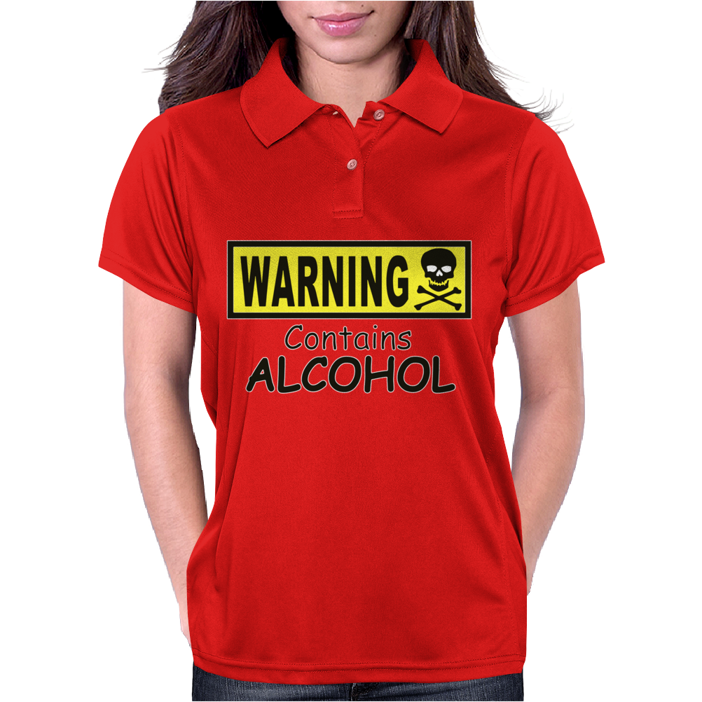 WARNING! CONTAINS ALCOHOL Womens Polo