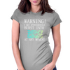 WARNING! I MAY SPONTANOUSLY BURST INTO DISNEY SONGS  Womens Fitted T-Shirt