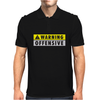 Warning Offensive Mens Funny Mens Polo