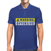 Warning Offensive Mens Funny. Mens Polo