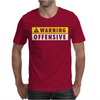 Warning Offensive Mens Funny. Mens T-Shirt