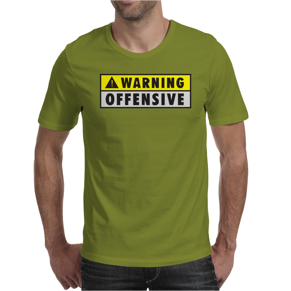 Warning Offensive Mens Funny Mens T-Shirt