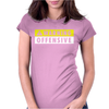 Warning Offensive Mens Funny. Womens Fitted T-Shirt