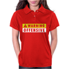 Warning Offensive Mens Funny. Womens Polo
