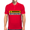 Warning Offensive Mens Polo