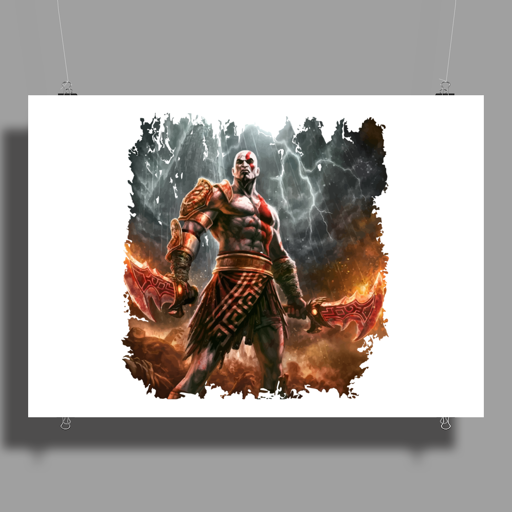 warrior game Poster Print (Landscape)