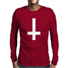 WASTED YOUTH INVERTED Cross INDIE Geek SWAG Funny Mens Long Sleeve T-Shirt