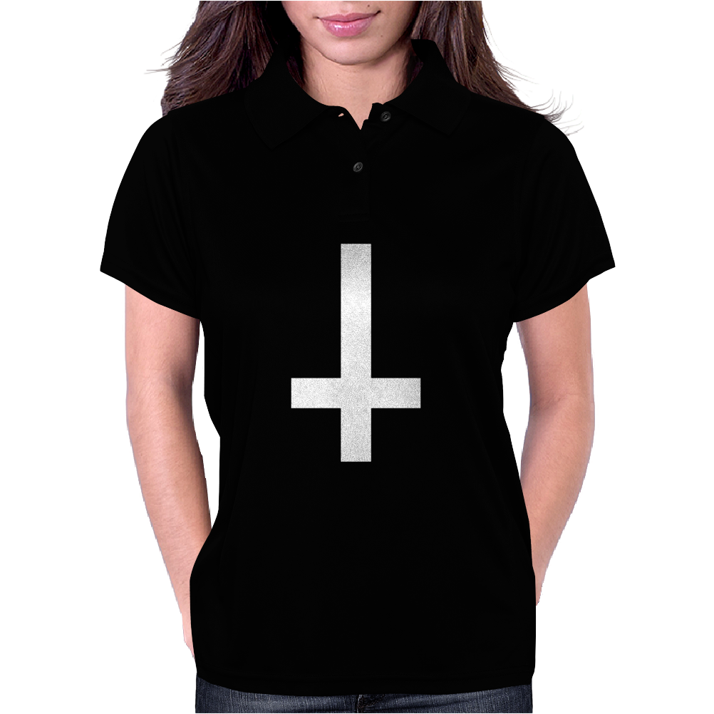 WASTED YOUTH INVERTED Cross INDIE Geek SWAG Funny Womens Polo